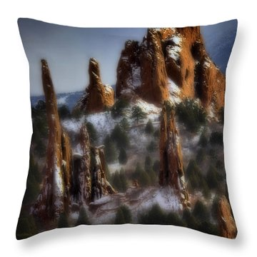 Throw Pillow featuring the photograph Garden Of The Gods by Ellen Heaverlo