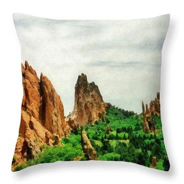 Garden Of The Gods Throw Pillow