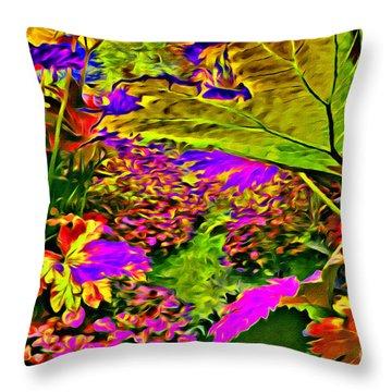 Garden Of Color Throw Pillow