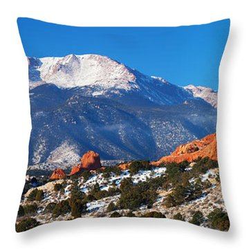 Garden Pano Throw Pillow by Darren  White