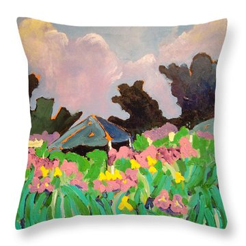 Garden Party 2 Throw Pillow