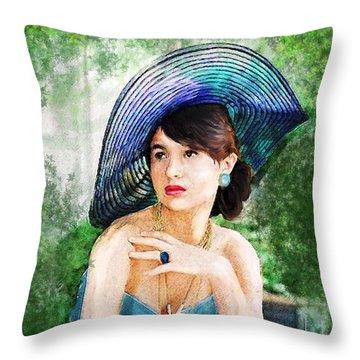 Garden Party Throw Pillow by Jane Schnetlage