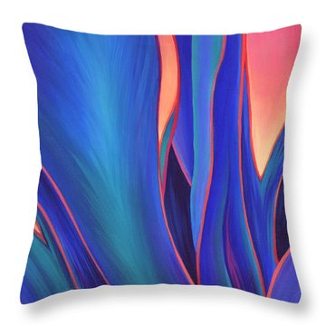 Throw Pillow featuring the painting Garden Party by Sandi Whetzel