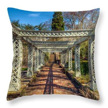 Garden Path Throw Pillow by Adrian Evans