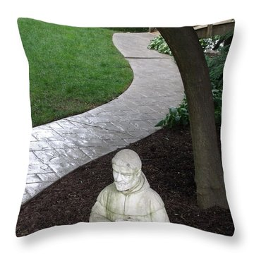 Throw Pillow featuring the photograph Garden Path St. Francis by Lyric Lucas