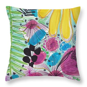 Garden Patterns Throw Pillow