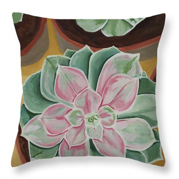 Garden Rossette Throw Pillow