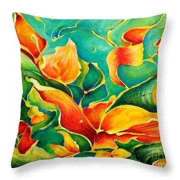 Garden Series No.3 Throw Pillow by Teresa Wegrzyn