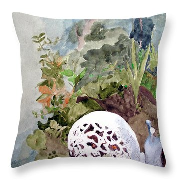 Garden Snail Throw Pillow by Sandy McIntire