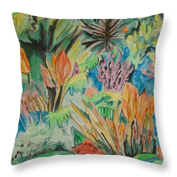 Garden Splendor Throw Pillow by Esther Newman-Cohen
