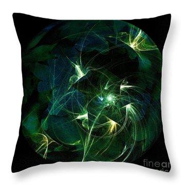 Garden Sprites Come At Night Throw Pillow