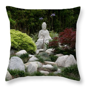 Garden Statue Throw Pillow by Art Block Collections