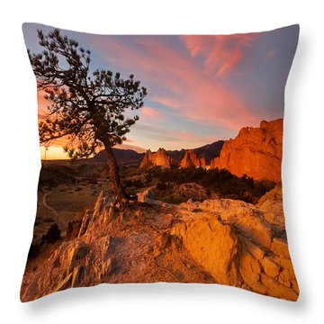 Garden Sunrise Throw Pillow