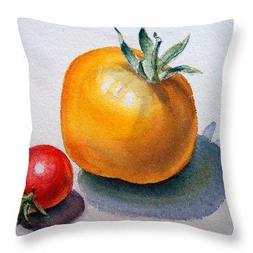 Garden Tomatoes Throw Pillow by Irina Sztukowski