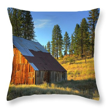 Garden Valley Barn Throw Pillow