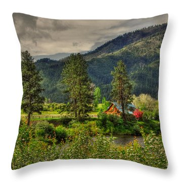 Garden Valley Throw Pillow