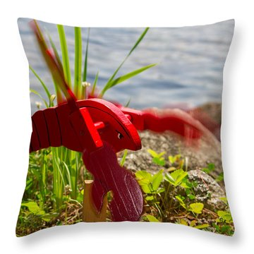 Garden Variety Lobster Throw Pillow