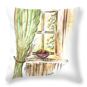 Garden View Throw Pillow by Teresa White