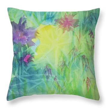 Garden Vortex Throw Pillow