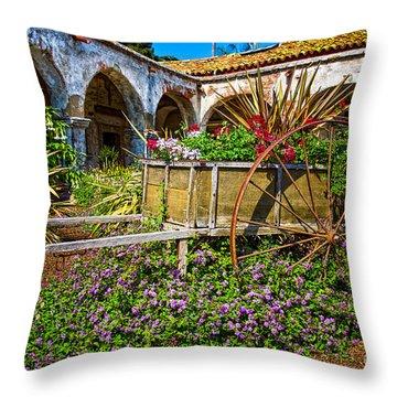 Garden Wagon Throw Pillow