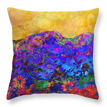 Garden Wall Two Throw Pillow