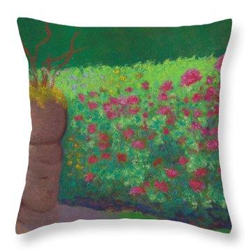 Garden Welcoming Throw Pillow