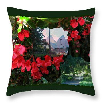 Throw Pillow featuring the photograph Garden Whispers by Leanne Seymour