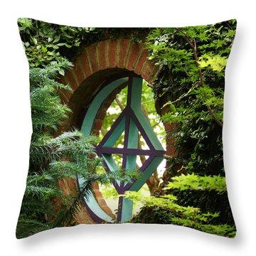 Garden Window Throw Pillow by Kim Pate