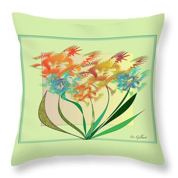 Garden Wonder Throw Pillow by Iris Gelbart