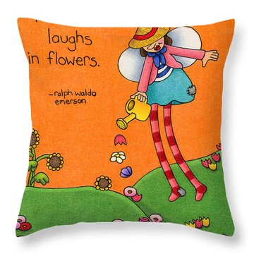 Gardener Angel Throw Pillow