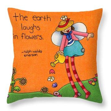 Gardener Angel Throw Pillow by Sarah Batalka