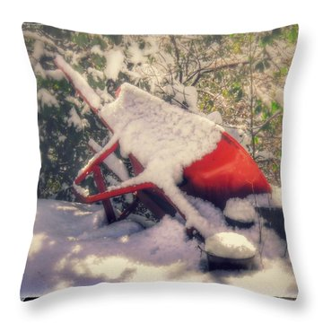 Gardener's Winter Dream Throw Pillow
