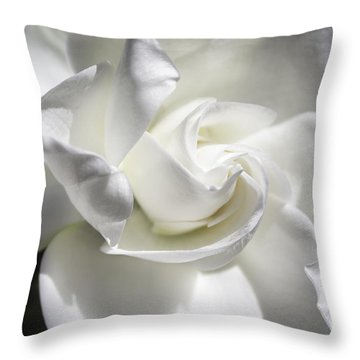 Gardenia Throw Pillow by Arlene Carmel