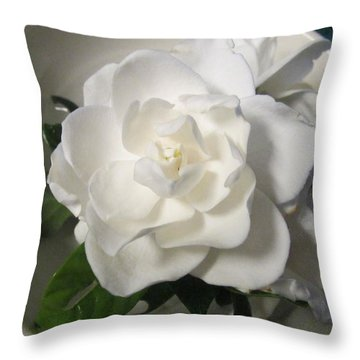 Gardenia Bowl Throw Pillow