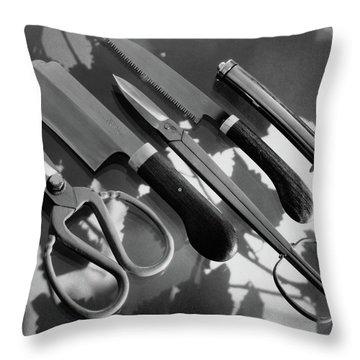 Gardening Tools Throw Pillow