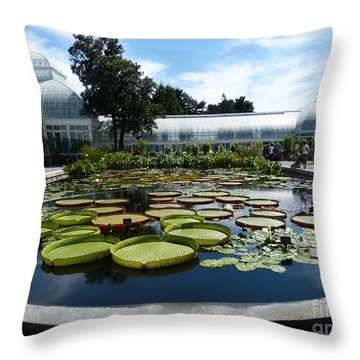 Pond Of Lilies Throw Pillow