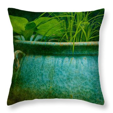 Gardenscape Throw Pillow by Amy Weiss