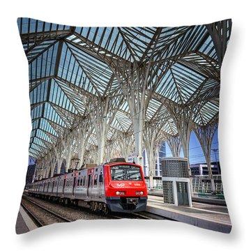 Gare Do Oriente Lisbon Throw Pillow