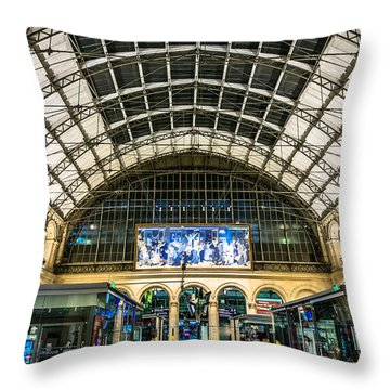 Gare Du L'est Throw Pillow