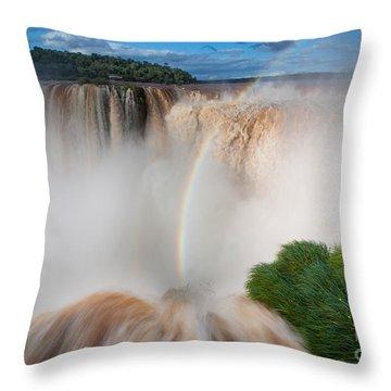 Garganta Del Diablo Throw Pillow by Inge Johnsson