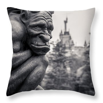 Gargoyle Throw Pillow