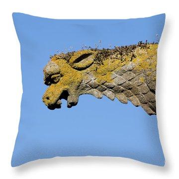 Gargoyle Throw Pillow by Bernard Jaubert
