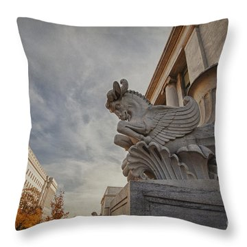 Statue Focus Throw Pillow
