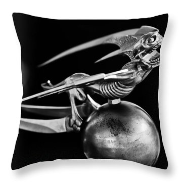Gargoyle Hood Ornament 2 Throw Pillow by Jill Reger
