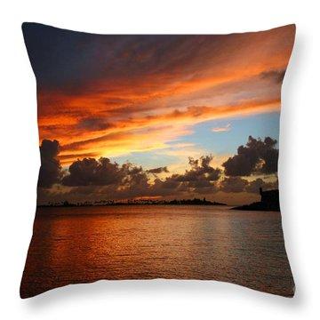 Garita En Atardecer Throw Pillow