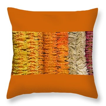 Throw Pillow featuring the photograph Garlands by Mini Arora
