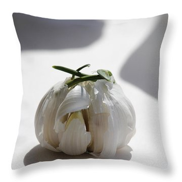 Garlic Clove Throw Pillow