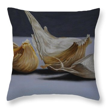 Garlic Cloves Throw Pillow