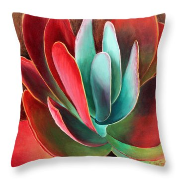 Throw Pillow featuring the painting Garnet Jewel by Sandi Whetzel