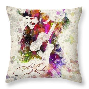 Garth Brooks Throw Pillow